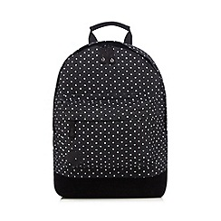 Mi-Pac - Black denim spot print 'Classic' backpack