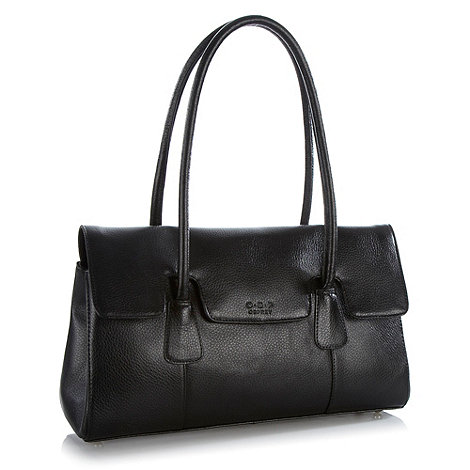 O.S.P OSPREY - Black leather shoulder bag from osprey