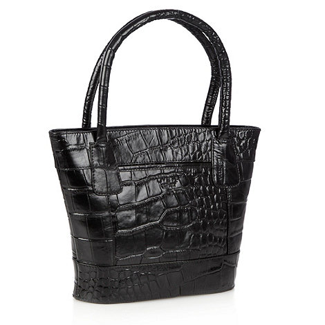 O.S.P OSPREY - Black tapered mock-crocodile grab bag