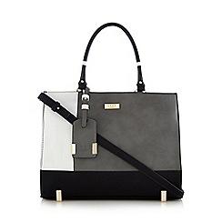 LYDC - Black colour block tote bag
