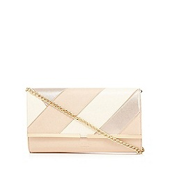LYDC - Beige patchwork clutch bag