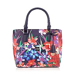 The Collection - Navy floral grab bag
