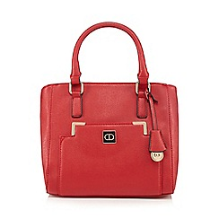 The Collection - Bright red double zip pocket grab bag