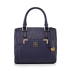 The Collection - Navy double zip pocket grab bag