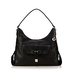 The Collection - Black front pocket detail shoulder bag