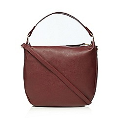 The Collection - Dark red metal detail shopper bag