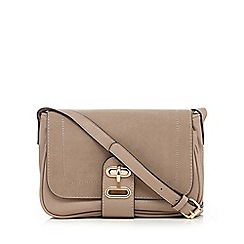 The Collection - Taupe twist lock cross body bag