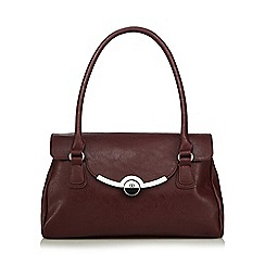 The Collection - Dark red metal bar shoulder bag