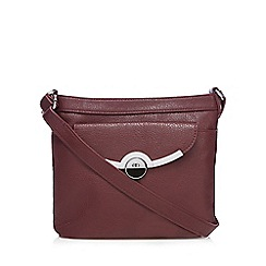 The Collection - Dark red metal bar cross body bag