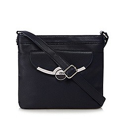The Collection - Navy metal bar cross body bag