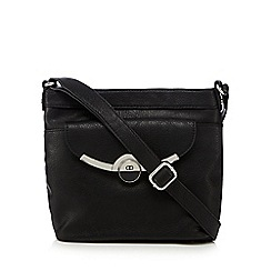 The Collection - Black metal bar cross body bag