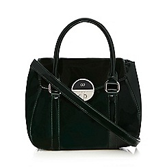 The Collection - Dark green patent grab bag