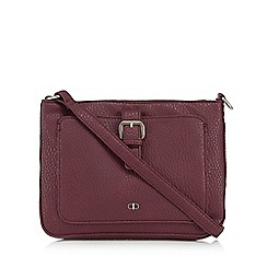 The Collection - Wine red front buckle cross body bag