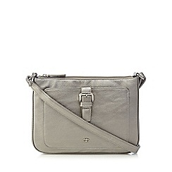 The Collection - Silver metallic front buckle cross body bag