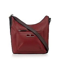 The Collection - Dark red pocket front cross body bag