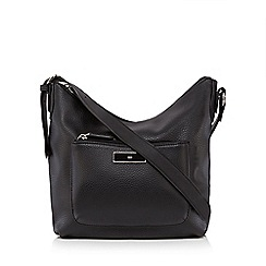The Collection - Black pocket front cross body bag