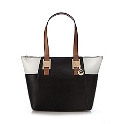 The Collection - Black colour block shoulder bag