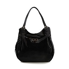 The Collection - Black patent shoulder bag