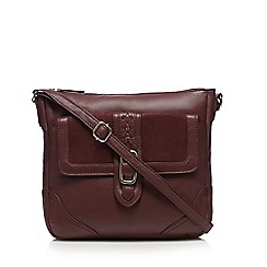 The Collection - Dark red suede panel cross body bag