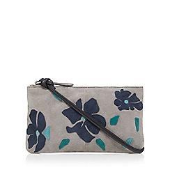 The Collection - Light grey floral applique cross body bag