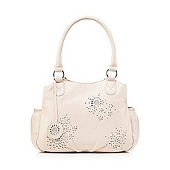 The Collection - Light pink leather floral cut-out tote bag
