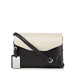 The Collection - Black colour block cross body bag
