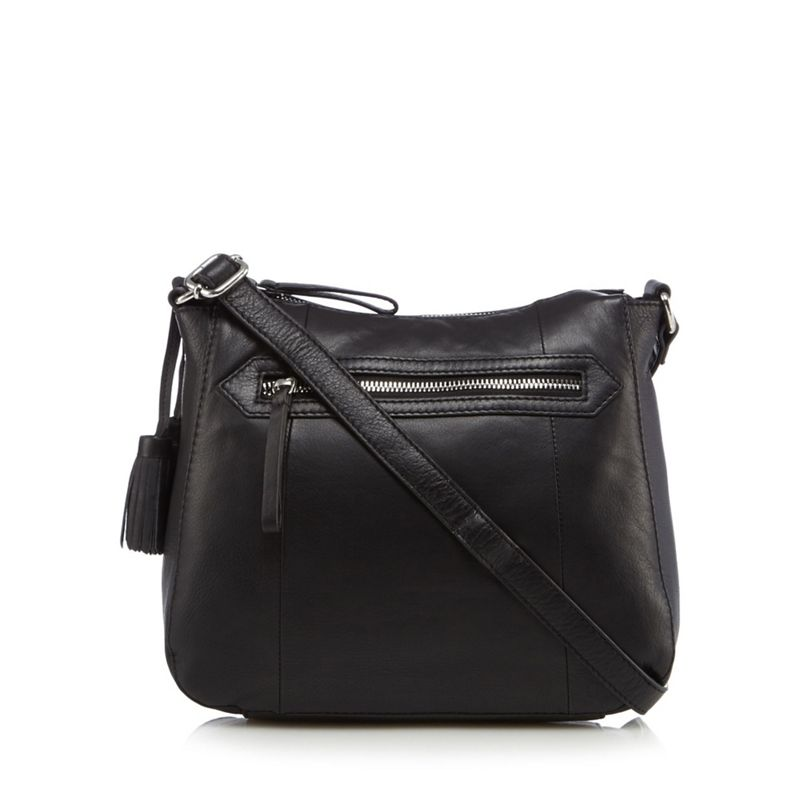 The Collection Black tasselled detail cross body bag