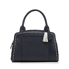 The Collection - Navy stitched detail tasselled bag