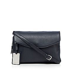 The Collection - Navy silver plated detail cross body bag