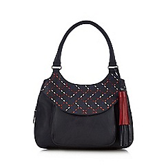 The Collection - Navy contrasting stitched shoulder bag