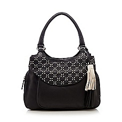 The Collection - Black contrasting stitched shoulder bag