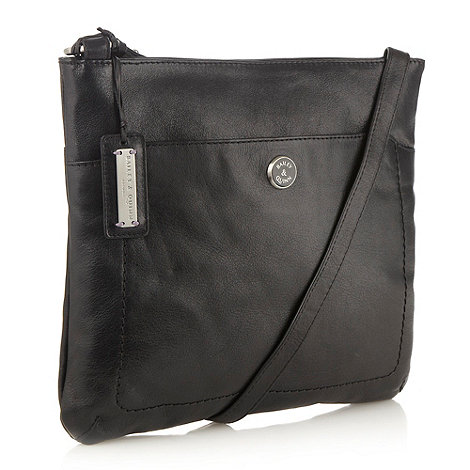 Bailey & Quinn - Black large leather +cumbria+ across body bag