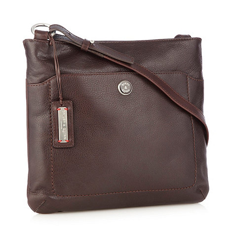 Bailey & Quinn - Large chocolate leather 'cumbria' across body bag