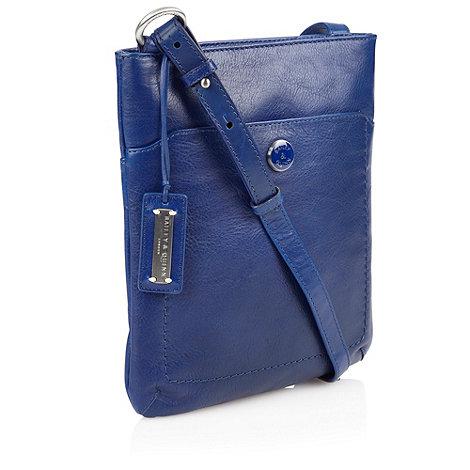 Bailey & Quinn - Royal blue rectangular leather across body bag