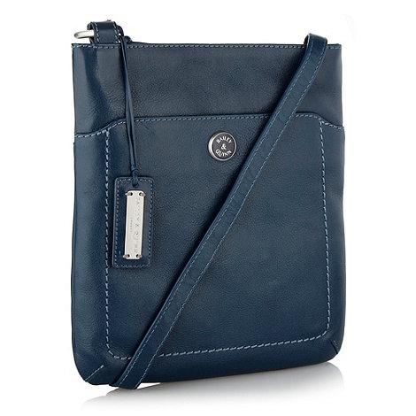 Bailey & Quinn - Dark blue small leather +cumbria+ across body bag