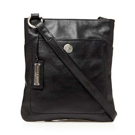 Bailey & Quinn - Small black leather +cumbria+ across body bag