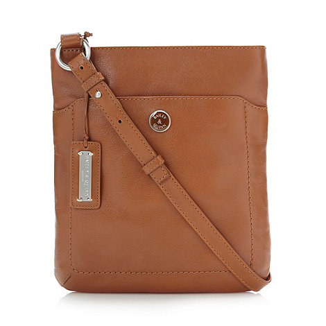 Bailey & Quinn - Tan rectangular leather across body bag
