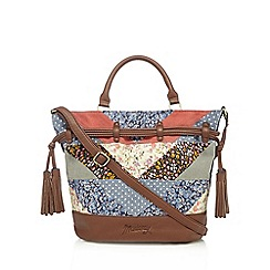Mantaray - Multi-coloured patchwork duffle bag