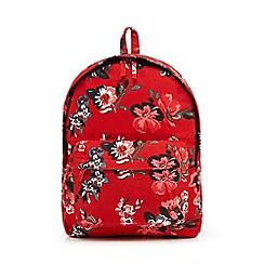 Mantaray - Bright red floral print backpack