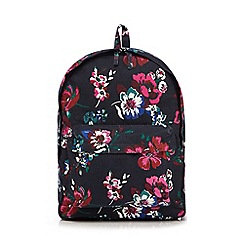 Mantaray - Navy floral print backpack