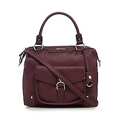 Mantaray - Dark red front pocket bowler bag