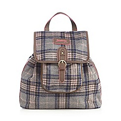 Mantaray - Dark brown checked backpack