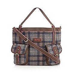 Mantaray - Dark brown checked shopper bag