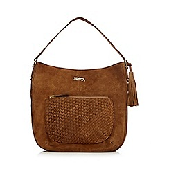 Mantaray - Tan woven shoulder bag