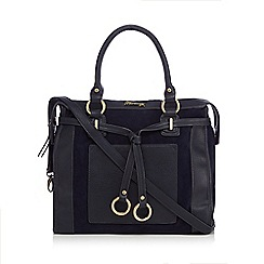 Mantaray - Navy ring belted tote bag