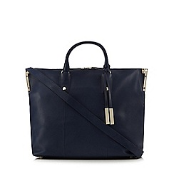 J by Jasper Conran - Navy large leather tote bag