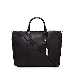J by Jasper Conran - Black large leather tote bag