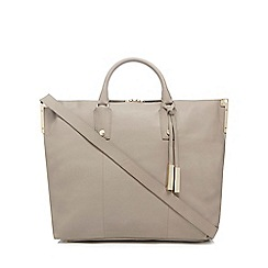 J by Jasper Conran - Taupe large leather tote bag