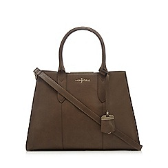 J by Jasper Conran - Dark green leather tote bag