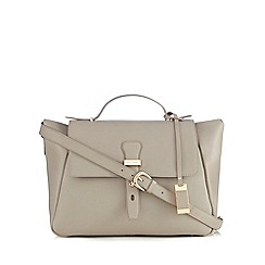 J by Jasper Conran - Taupe leather large shoulder bag